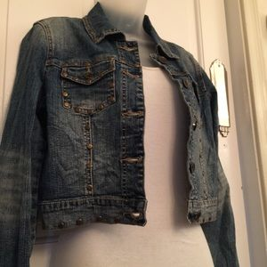 Z co Studded and Embroidered Jeans Jacket Size M